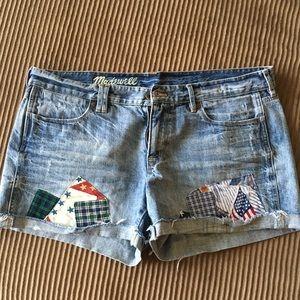 Madewell denim Americana shorts